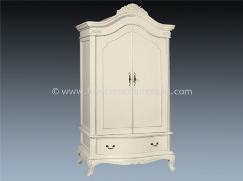 Candice Double Armoire in Antique White